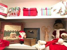 Santa is everywhere along with holiday colors and items for everyone