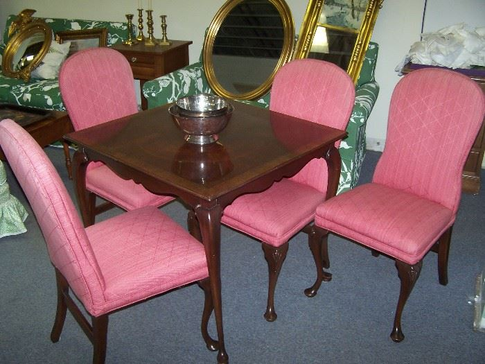 20TH C. GAMES TABLE & CHAIRS