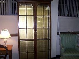 20TH C. GLASS-DOOR DISPLAY CABINET