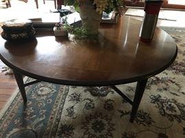 #2Mid Century Round coffee table 40x15 $100.00
