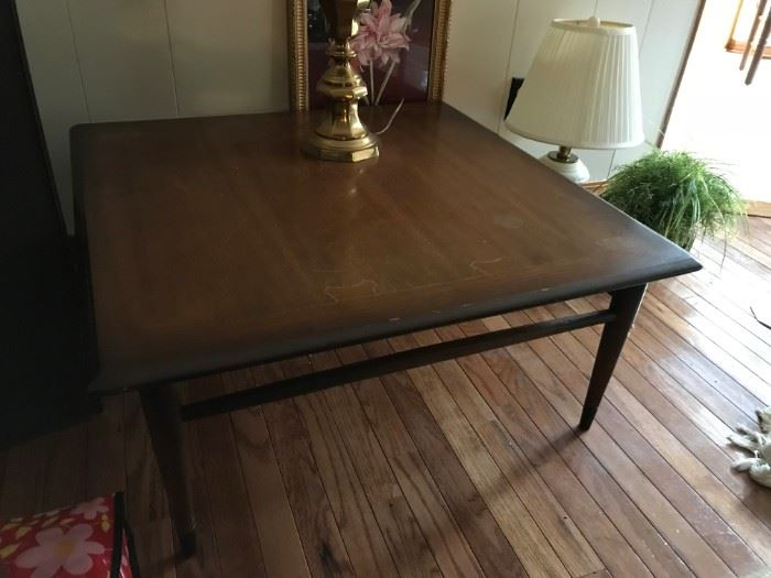 #3Mid Century square coffee table as is 33x15 $50.00