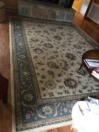 #4Ariana 7'10 x 11'0 cream/blue machine rug $175.00