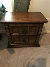 #11	2 drawer end table - as is   26x15x23	 $30.00