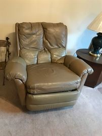 #17Leather Recliner - as is $50.00