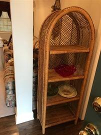 #28(2) Wicker Arch Cabinet 22x11x59  $30 each $60.00