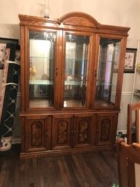 #30Arces Brothers Furn. China Cabinet   60x16x82$175