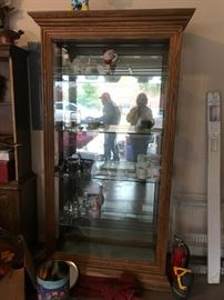 #46Display cabinet w/ side glass doors and beveled glass 39x15x81 $175.00