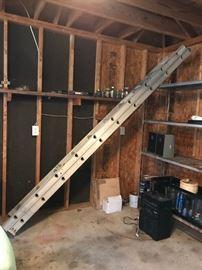 #57Metal extension ladder, 18 ft $70.00