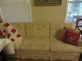 Sofa, Vintage Hand Crochet spread, more