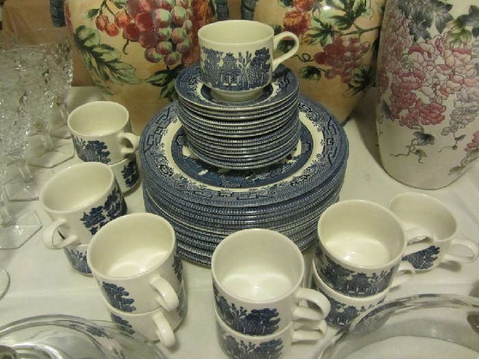 Vintage Churchill Blue Willow Dishes, more