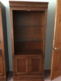 """Two lighted wall units Hooker Furniture Martinsville, VA Dimensions:  77""""H/32""""W/15 1/2""""D"""