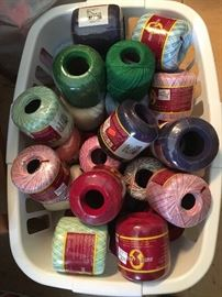 New & vintage yarn for various uses and in multiple colors