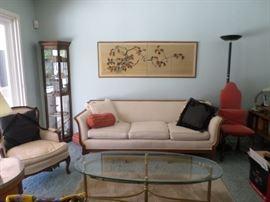 Circa 1870 newly upholstered sofa