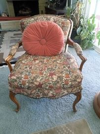 Newly upholstered Louis XV style armchair,early 20th century