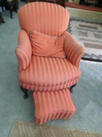 Cogswell Bergere with matching footstool circa 1925