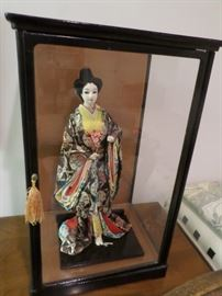Chinese geisha Doll in custom display box