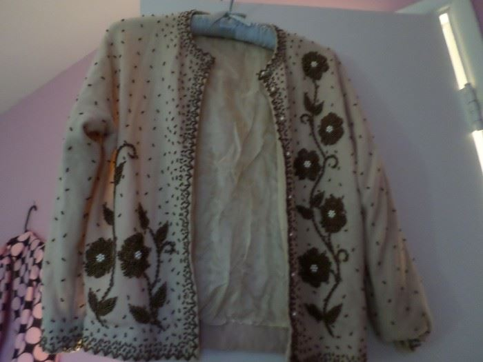 Retro Beaded Sweater