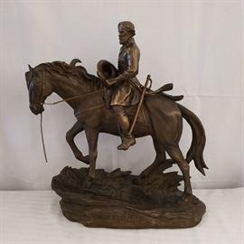 robert e lee on horse figurine