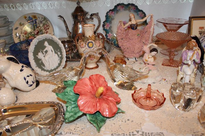 Dreseden Lace Figurines, Jasperware, Prussia And More!