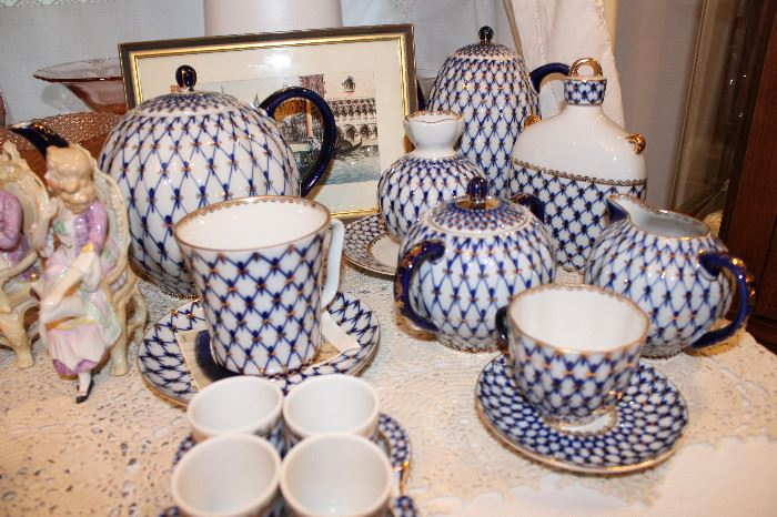 Lomonosov Made In Russia, Pattern Cobalt Net