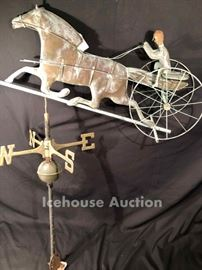 Vintage copper weather vane