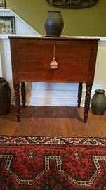 Tennessee Sugar Chest with hand carved pineapple legs