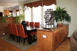 Pottery Barn Benchwright Extending Dining Table & 8 Pottery Barn Grayson  Chairs.    Chairs are sold separate from table .