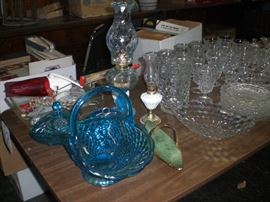 lots of glassware, porcelain, pottery, etc.