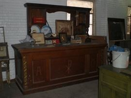 freternal organization base bar oak cabinet