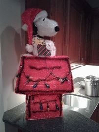 Snoopy all decked out for Christmas