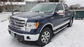 Ford F-150 Truck (2013)- 62,340 miles (We will be taking silent bids on the truck with a minimum amount yet to be established)