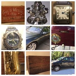 Bmw, Advertising, cars, electronics, military, collectibles, antiques, watches, saxophone, oil paintings, jewelry,  sterling jewelry , silver & more