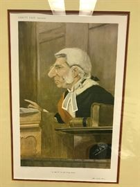 One of four Vanity Fair Barrister Cartoon Litho.,                    Vincent Brooks Day & Son