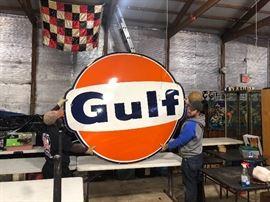 Huge 1965 Gulf Oil sign