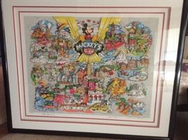 Mickey's World Tour 3-D Serigraph, signed & numbered by Charles Fazzino