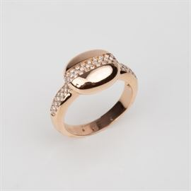 11: 14K DIAMOND FASHION RING .36CTW