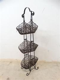 3 Tier Basket Rack