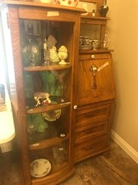 Lovely antique desk with display