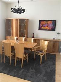 Italian Excelsior Design dining room furniture.