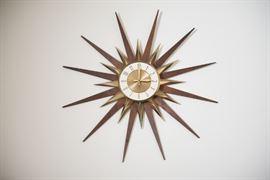 Mid Mod Elgin Starburst Wall Clock