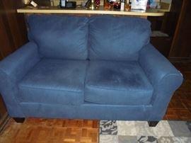 Matching blue love seat