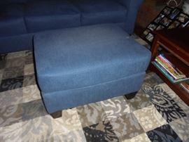 Matching blue foot stool