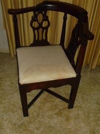 1 of 2 matching corner chairs