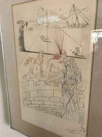 Hand Signed Salvador Dali Etching