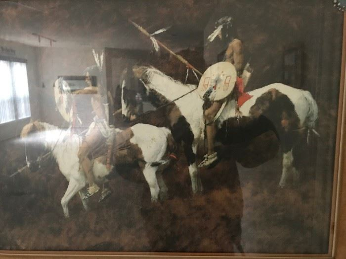 """Howard Terpning Signed Lithograph """"Paints"""""""