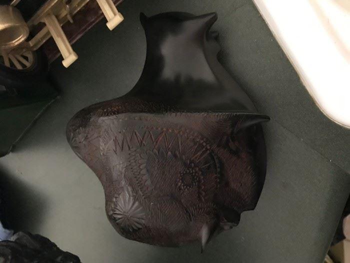 Carved Wood Buffalo