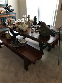 Farmhouse Style Table and Benches