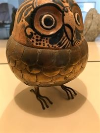 Brass and Pottery Owl