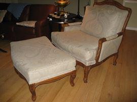 armchair with ottoman