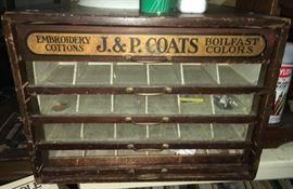 J p Coats spool cabinet